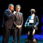 Georges le robot avec jean Muller JCDECAUX