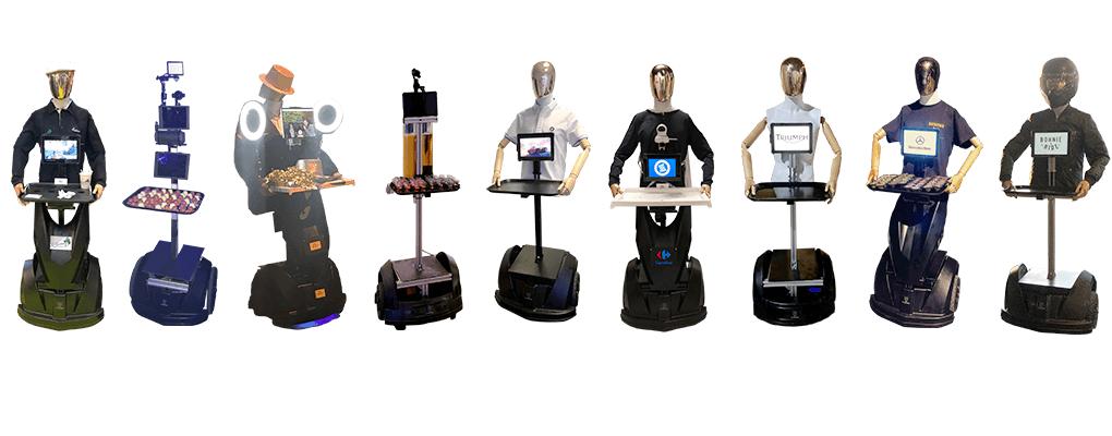 Georges le robot connecté photobooth interractif Airbus BMW Mercedes Carrefour